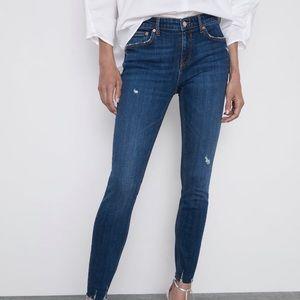 Zara Skinny Jeans in Phoebe Blue - Size 2